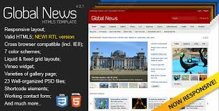 newspaper theme html5 news portal website templates from themeforest