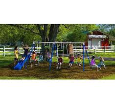 amazon com flexible flyer fantastic playground metal swing set