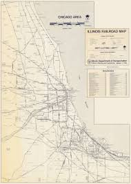 Illinois Railroad Map by Chicago Railroad Yards