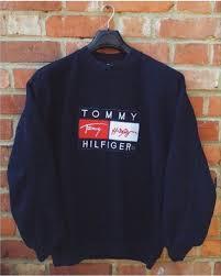 vintage hilfiger sweaters sweater hilfiger hilfiger vintage navy oversized