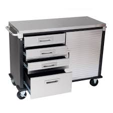 stainless steel workbench cabinets seville hd rolling workbench stainless steel top four drawer one