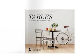 Commercial Table 2017 Tables Brochure
