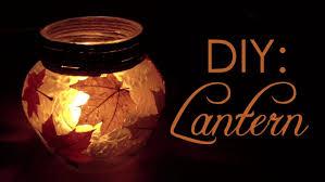 diy autumn lantern youtube
