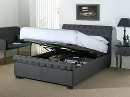 Grey Upholstered Ottoman Bed Grey Ottoman Taptotrip Me