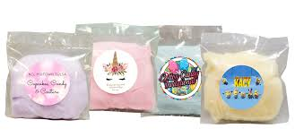 personalized cotton candy bags custom cotton candy bags with personalized labels for any event