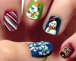 christmas toe nail art lustyfashion