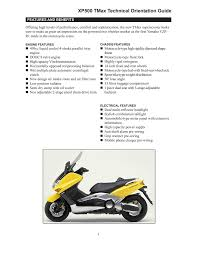 yamaha tmax xp500z specifications