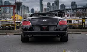bentley black convertible 2013 bentley continental gt v8 convertible lotus vancouver