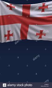 Georgian Flag Flag Georgia Render Georgian Flag 3d Render Stock Photo Royalty