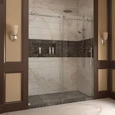 Kohler Frameless Shower Doors by Dreamline Enigma X 56 60 In Width Frameless Sliding Shower Door