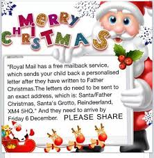 merry christmas royal mail has a free mailback service wh