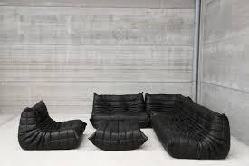 Home Decorators Rugs Sale Vintage Black Leather Togo Lounge Set By Michel Ducaroy For Ligne