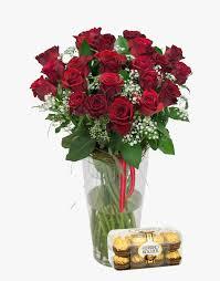 Star Vase Red Rose U0026 Million Stars With Ferrero Rocher Quando Florist