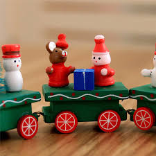 Wooden Toy Christmas Tree Decorations - charming christmas wooden train tree ornament decor kid wood