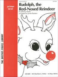 rudolph red nosed reindeer sheet music james bastien