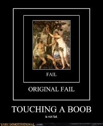 Funny Boob Meme - touching a boob very demotivational demotivational posters