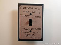 beach light switch covers dumbledore quote happiness can be found parchment version harry