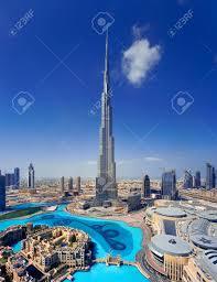 Burj Khalifa A Skyline View Of Downtown Dubai Showing The Burj Khalifa And