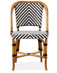 Wicker Bistro Chairs Black White And Rattan Chair Outdoor Living Pinterest