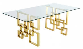 Meridian Patio Furniture by 714 Pierre Dining Room Set In Rich Gold U0026 Beige By Meridian