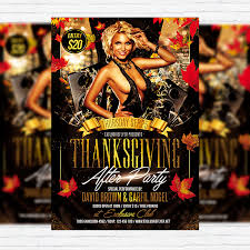 thanksgiving after premium flyer template cover