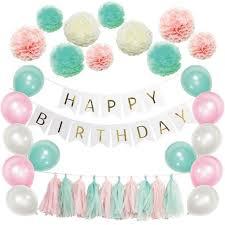 birthday balloons 40pcs set happy birthday balloons decor set balloons paper
