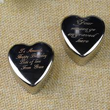 Engrave Gifts Online Shop Personalised Engrave Heart Trinket Jewellery Box Ring