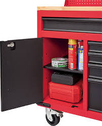 husky 66 in w 24 in d 12 drawer heavy duty mobile workbench here u0027s more about milwaukee u0027s 60 u2033 mobile tool cabinet