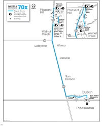 Bart Line Map by Local Routes Wheelsbus