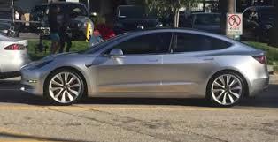 tesla model 3 spotted cruising through california video