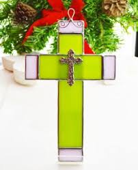 beveled glass cross by theglassmenagerie on etsy 16 00 stained