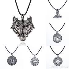 silver wolf necklace images Wholesale norse viking amulet necklace ancient silver wolf head jpg