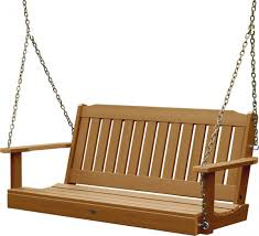 Outdoor Patio Swing by Outdoor Synthetic Plastic Wood Porch Swing Set