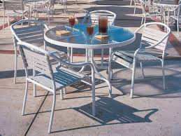 White Aluminum Patio Furniture Sets by Exterior Enchanting Sling Patio Furniture Sets By Woodard