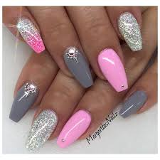 baby pink and grey by margaritasnailz from nail art gallery