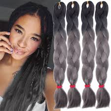 yaki pony hair for braiding 24 inches pictures of women 24inch 10pcs ombre gray braiding hair high temperature wire ombre