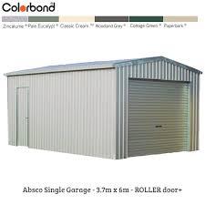 absco garage 3 7mw x 6md x 2 98mh g644127rd garages
