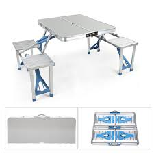 picnic tables folding with seats portable outdoor folding picnic table with 4 seats and umbrella hole