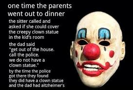 Creepy Clown Meme - creepy clown statue weknowmemes