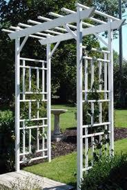 white arch garden party arbor trellis wedding decor patio outdoor