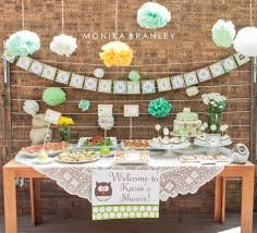 baby shower mint owl theme life u0026 baby baby showers parties