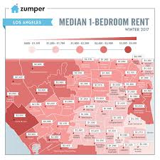 mapping los angeles neighborhood rent prices this winter 2017
