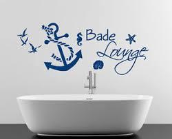 wandtattoos badezimmer wandaufkleber wandtattoo badezimmer anker seil bad seepferd