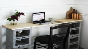 Diy Desk Diy Cinderblock Desk