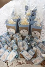 boy baby shower favors baby shower favor ideas boy sanitizer and paper box pop corn