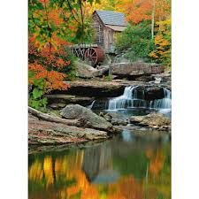 ideal decor 100 in x 72 in tropical pathway wall mural dm438 grist mill wall mural