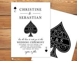 las vegas wedding invitations lucky in las vegas wedding invitation