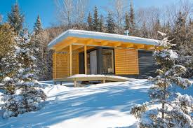 modern small house chalet exp a tiny modern cabin for quebec u0027s wilderness parks