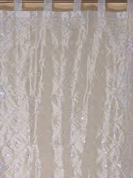 silver zardozi sheer curtain panel hand embroidered beaded
