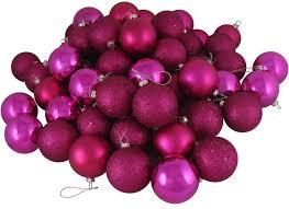 16ct pink magenta shatterproof 4 finish ornaments 3